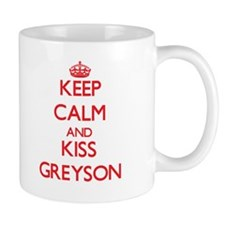 Keep Calm and Kiss Greyson Mugs