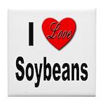 I Love Soybeans Tile Coaster