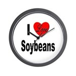I Love Soybeans Wall Clock