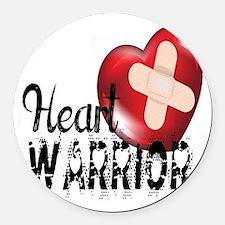 heart warrior Round Car Magnet