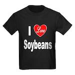 I Love Soybeans (Front) Kids Dark T-Shirt