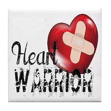 heart warrior Tile Coaster