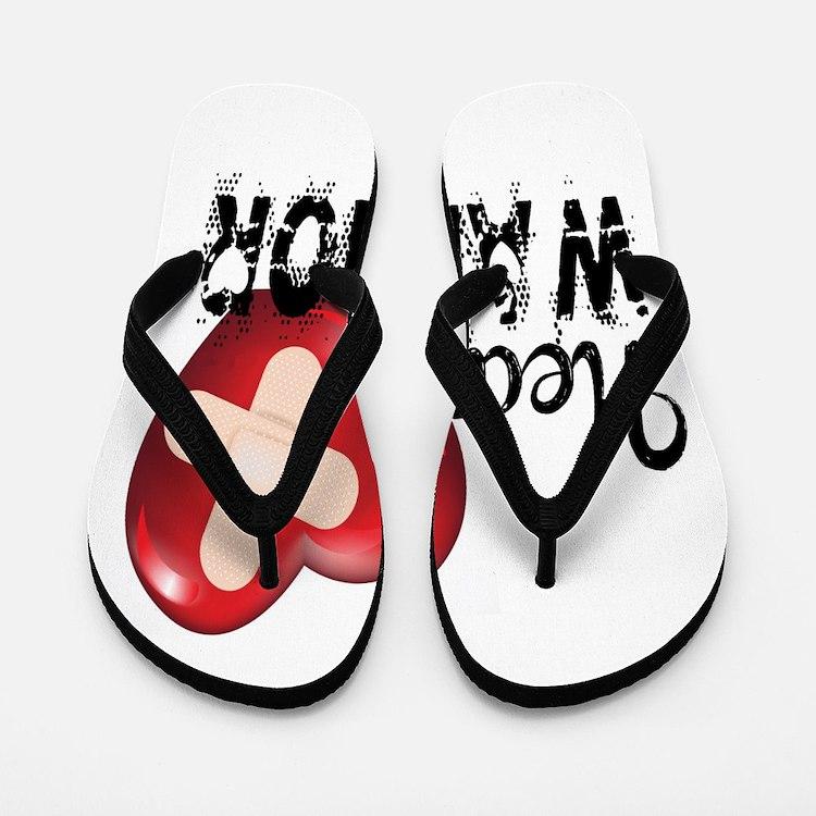 Heart Warrior Flip Flops