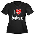 I Love Soybeans (Front) Women's Plus Size V-Neck D