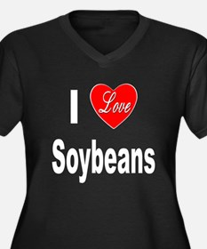 I Love Soybeans (Front) Women's Plus Size V-Neck D