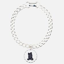 Pocket Black Briard Bracelet
