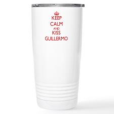 Keep Calm and Kiss Guillermo Travel Mug