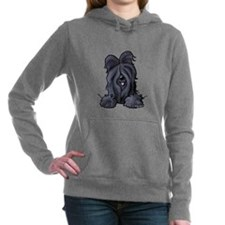 Pocket Black Briard Women's Hooded Sweatshirt