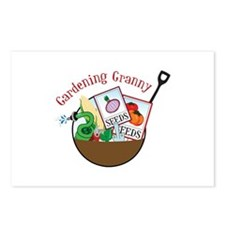 Gardening Granny Postcards (Package of 8)
