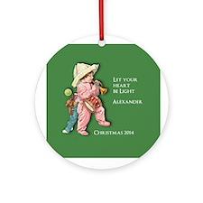 Personalized Victorian Boy Ornament (round)