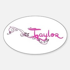 Taylor Flower Name Plate Decal