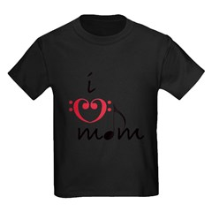 i love mom (red) T