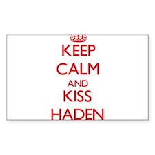 Keep Calm and Kiss Haden Decal