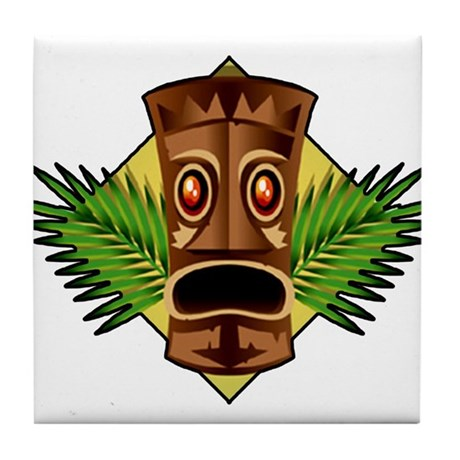Retro Tiki Tile Coaster