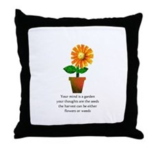 Spiritual Gardening Throw Pillow