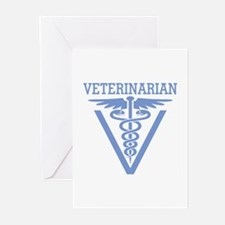 Caduceus VET (Veterinarian) Greeting Cards