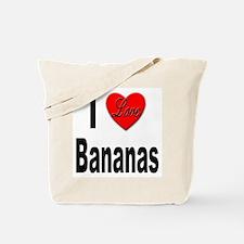 I Love Bananas Tote Bag