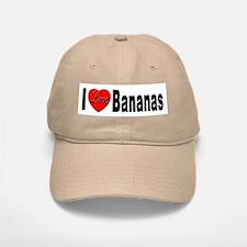 I Love Bananas Baseball Baseball Cap