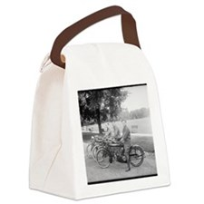 Cute Motorcycle Canvas Lunch Bag