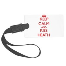 Keep Calm and Kiss Heath Luggage Tag