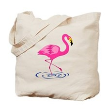 Pink Flamingo on One Leg Tote Bag