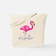 Pink Flamingo on One Leg Tote Bag
