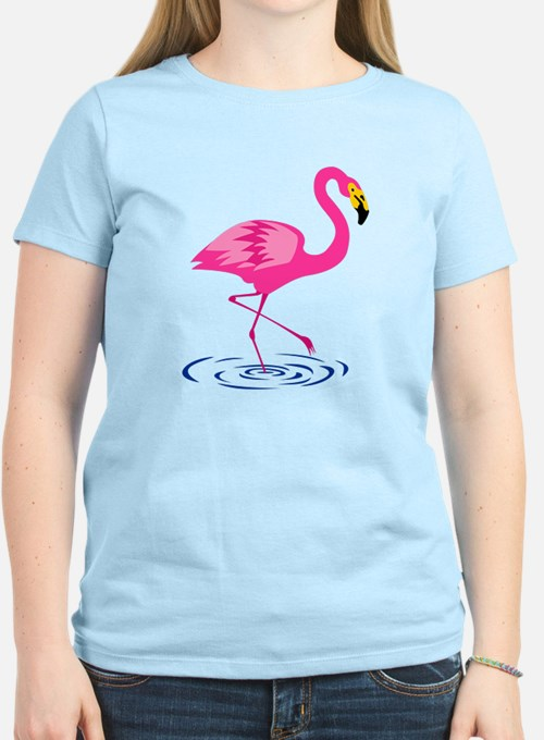 Pink Flamingo on One Leg T-Shirt