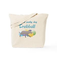 Pushy Dog Treibball Tote Bag