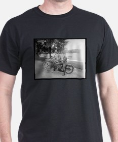Old Timey Motorcycle Shop T-Shirt