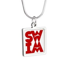 SWIM BLOCK Silver Square Necklace