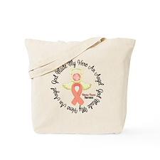 Uterine Cancer Angel Ribbon Tote Bag