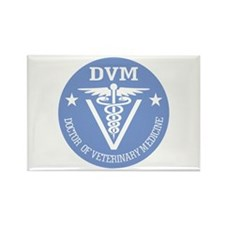 Caduceus DVM (Doctor of Veterinary Science) Magnet
