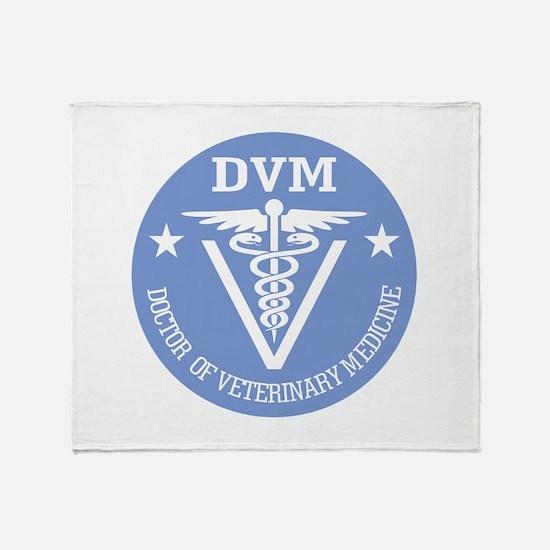 Caduceus DVM (Doctor of Veterinary Science) Throw