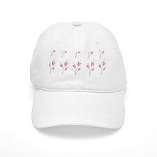Soft pink romantic floral motif Hat