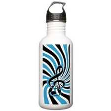 Stylish retro musical clef Water Bottle
