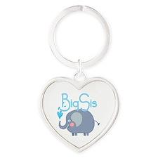 Elephant Big Sis Heart Keychain
