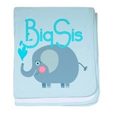 Elephant Big Sis baby blanket