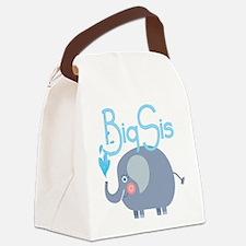 Elephant Big Sis Canvas Lunch Bag