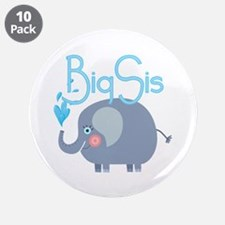 "Elephant Big Sis 3.5"" Button (10 pack)"