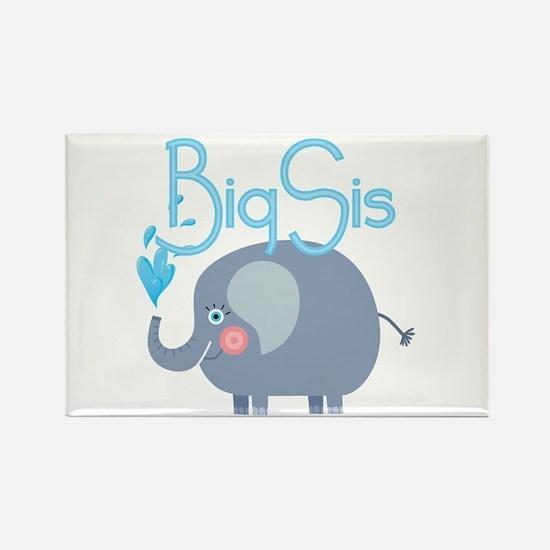 Elephant Big Sis Rectangle Magnet