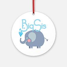 Elephant Big Sis Ornament (Round)