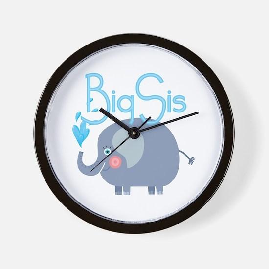 Elephant Big Sis Wall Clock