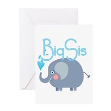 Elephant Big Sis Greeting Card