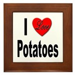 I Love Potatoes Framed Tile