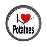 I Love Potatoes Wall Clock