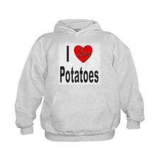I Love Potatoes (Front) Hoodie