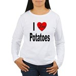 I Love Potatoes (Front) Women's Long Sleeve T-Shir
