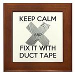 duct tape Framed Tile