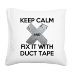 duct tape Square Canvas Pillow