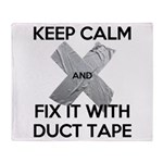 duct tape Throw Blanket